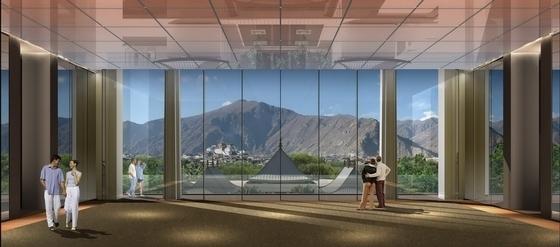 [拉萨]高山雪域首家豪华奢华酒店设计方案图大堂效果图