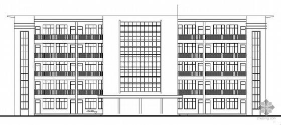 [2008毕业设计]自贡市某中学五层框架结构教学楼建筑施工图