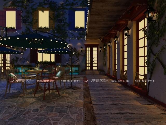 据说这是丹东最美的休闲度假民宿设计,快去瞧瞧-04内庭院夜.jpg