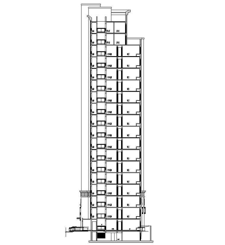 [江苏]苏州欧陆风格居住区建筑方案施工图设计(CAD)