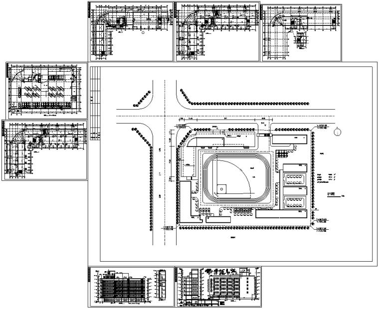 小学建筑设计初设图CAD-小学建筑设计初设图