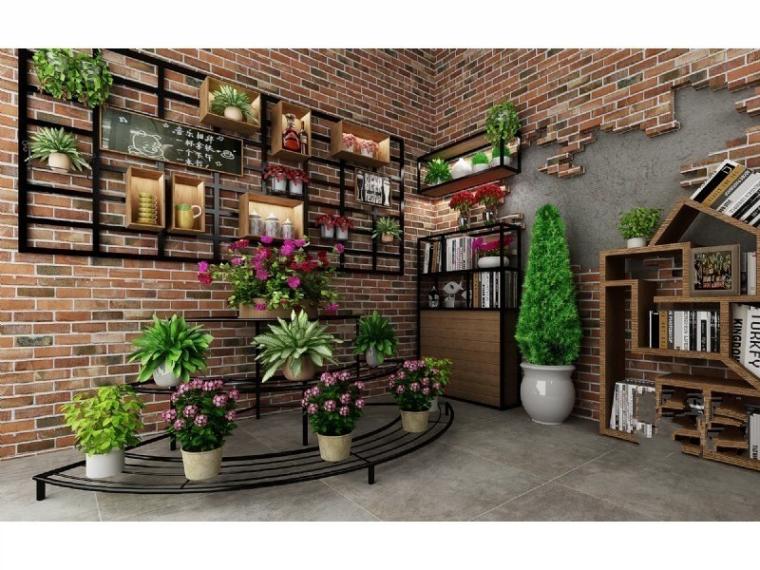 绿植、绿植墙3D模型合集