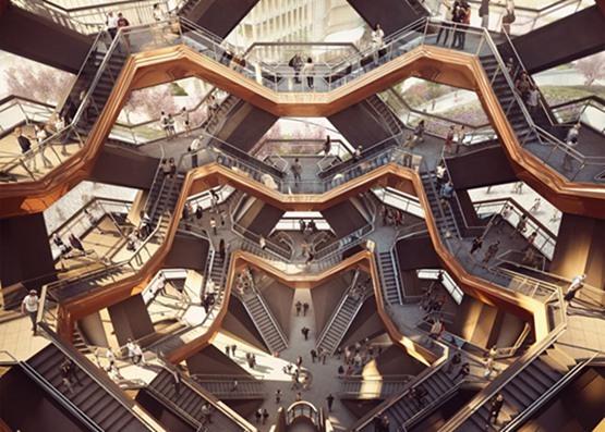 """vessel楼梯资料下载-设计师赫斯维克公布纽约哈德逊园区""""楼梯""""建筑"""