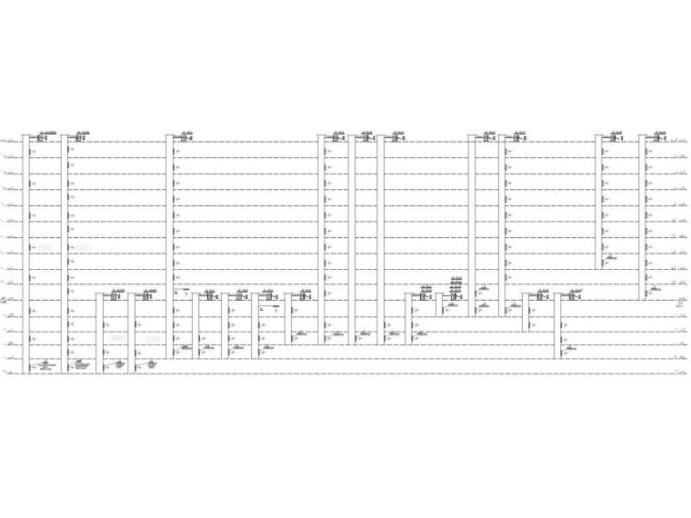[重庆]高层医院空调通风防排烟系统设计施工图(多联机系统)-地上防排烟系统原理图.jpg