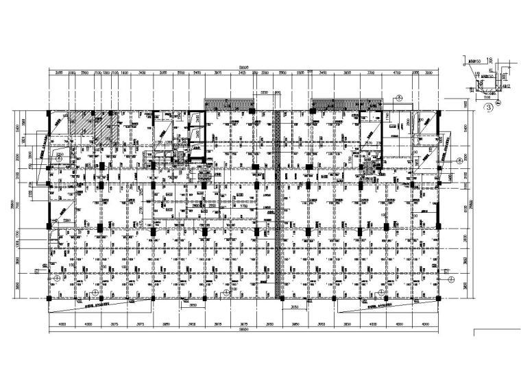 3层框架剪力墙结构公寓式住宅楼结构施工图