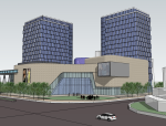 [四川]酒店建筑立面图及平面图设计(含skp模型)