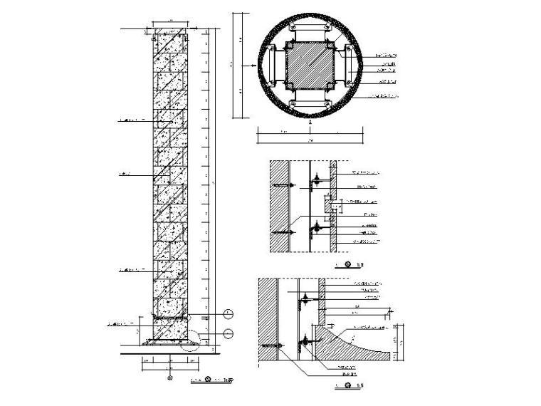 大理石包柱详图