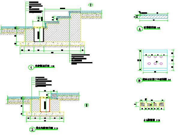 台阶和排水沟详图