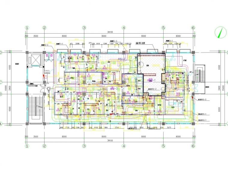 [上海]多层医药车间空调通风及防排烟系统设计施工图