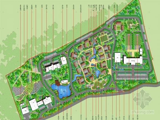 [长春]民族风俗度假村落环境绿化设计方案(图纸精美)