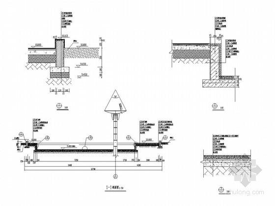 [浙江]城市中心广场景观花架施工详图-柱廊景观施工图