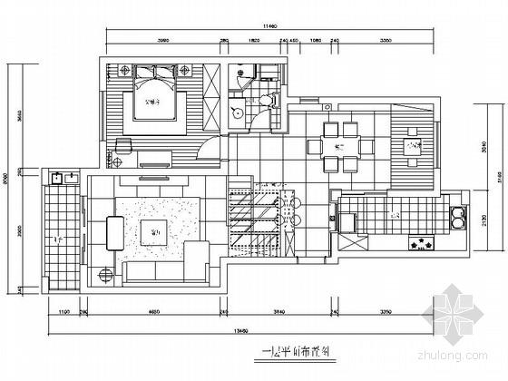 [常熟]精品典型现代风格复式样板间CAD装修施工图(含高清实景图)
