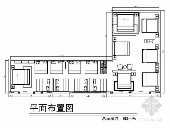 [陕西]著名品牌软体家具高档专卖店室内CAD装修图(含效果)