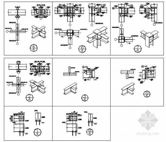 [连云港]钢结构广告牌钢架连接节点详图