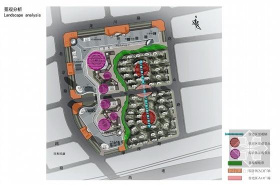 现代风格商业综合体及住宅设计方案分析图