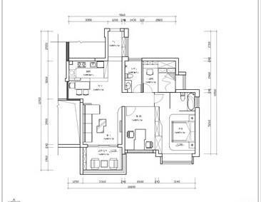[原创]自然清新两室两厅室内设计规划方案(含效果图)