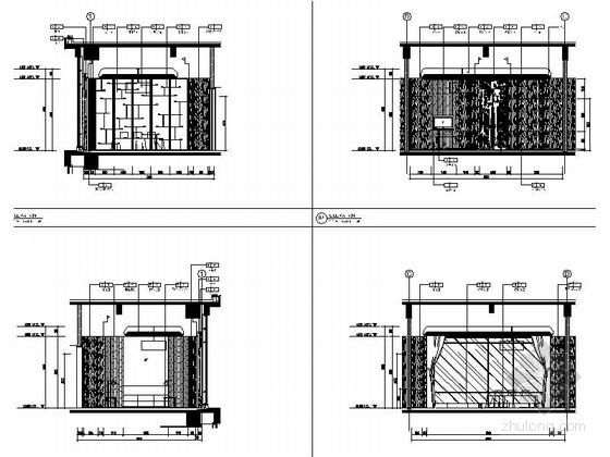[芜湖]广场商业圈典雅新中式风格餐厅装修施工图(含效果)立面图
