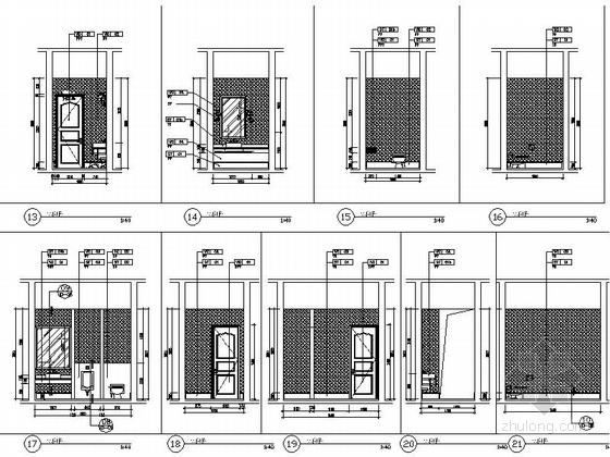[苏州]工业园林区复合型商业综合体社区中心装修施工图(含效果)卫生间立面图