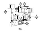 【海南】红色墨西哥样板房设计CAD施工图(含效果图)