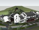 特色精品禅茶院寺院模型(SU模型)