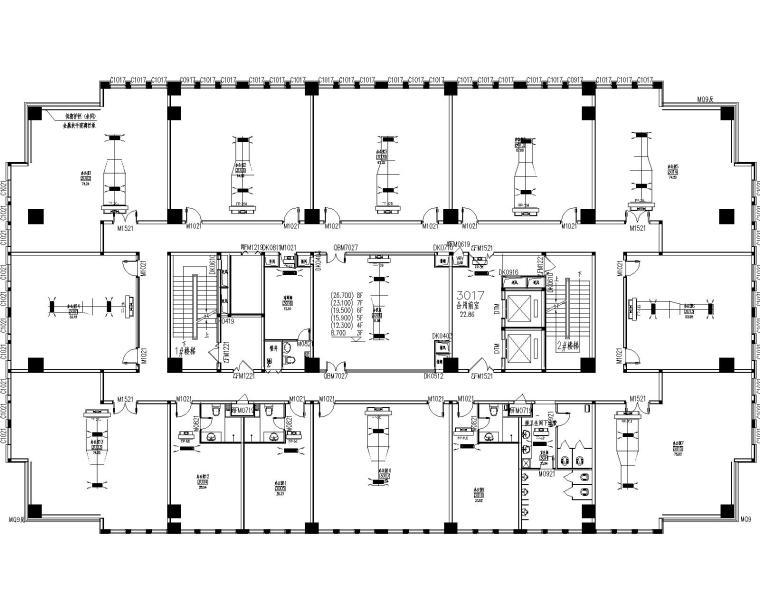 综合广场酒店1号楼风冷模块施工图