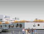 [河南]后现代感四层邻里中心中学建筑设计方案文本