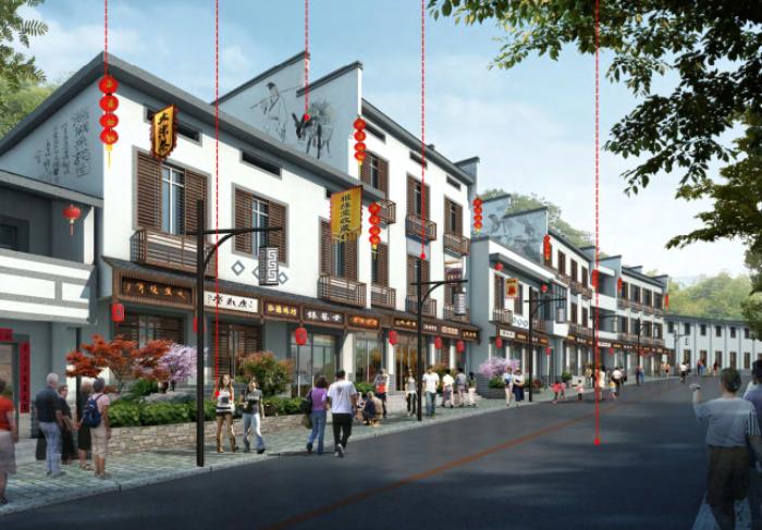 [浙江]乡镇环境综合整治改造城市规划景观设计-景观效果图6