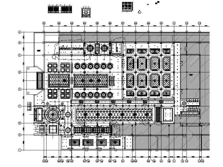 [上海]高端大气简约欧式餐厅室内设计施工图(含效果图)