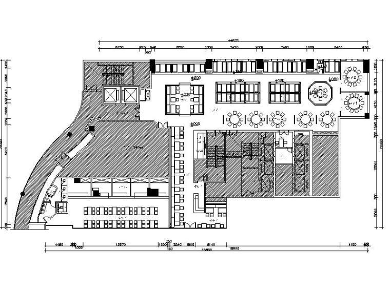 [新疆]新中式异域风情餐饮空间室内设计施工图(含效果图)