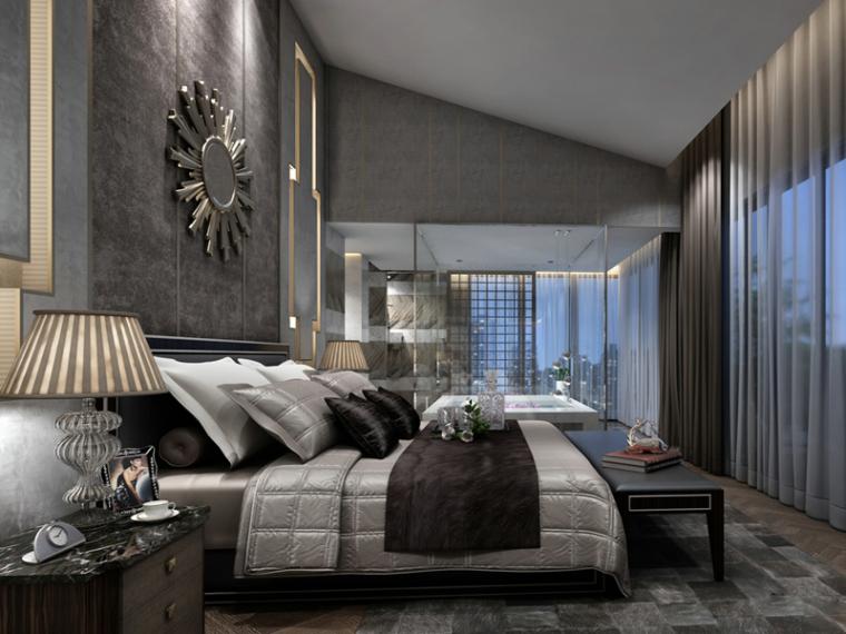 宽敞温馨卧室3D模型下载_1