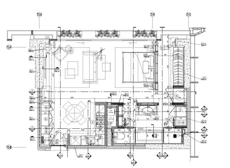 [广东]Wilson&Associates-华润大涌西塔T3公寓入户大堂|3套样板间施工图+设计方案+物料