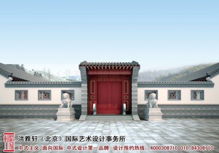 四合院装修-古典中式风格大连四合院装修效果图案例第1张图片