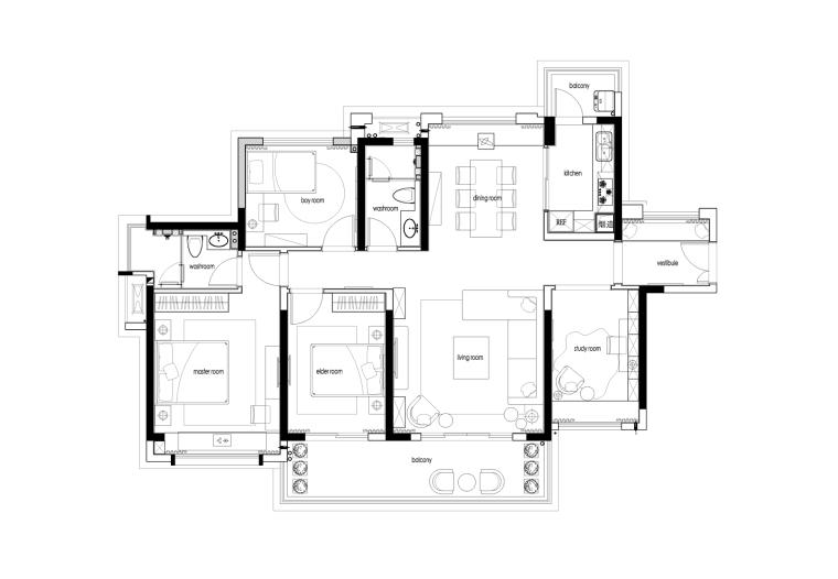 [惠州]方直珑湖湾东岸住宅设计效果图