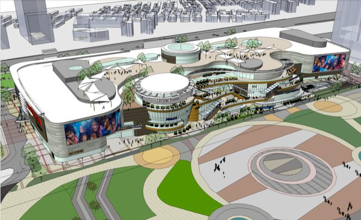 现代风格大型商业综合体建筑设计SU模型