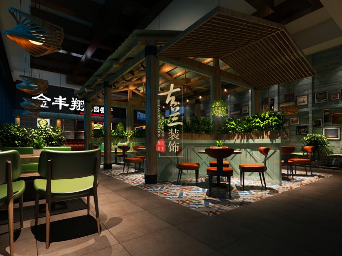 《华侨城金丰翔花园餐厅》德令哈餐厅装修设计,德令哈餐厅设计-华侨城金丰翔花园餐厅3.jpg
