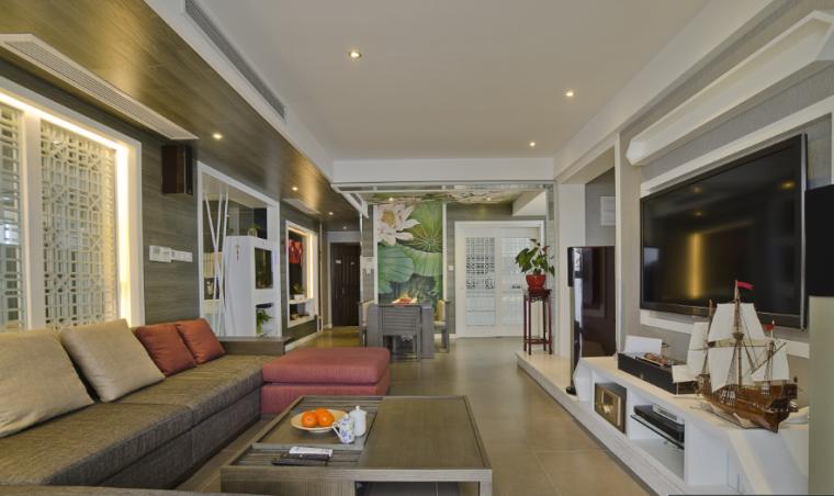 新中式风格客厅效果图