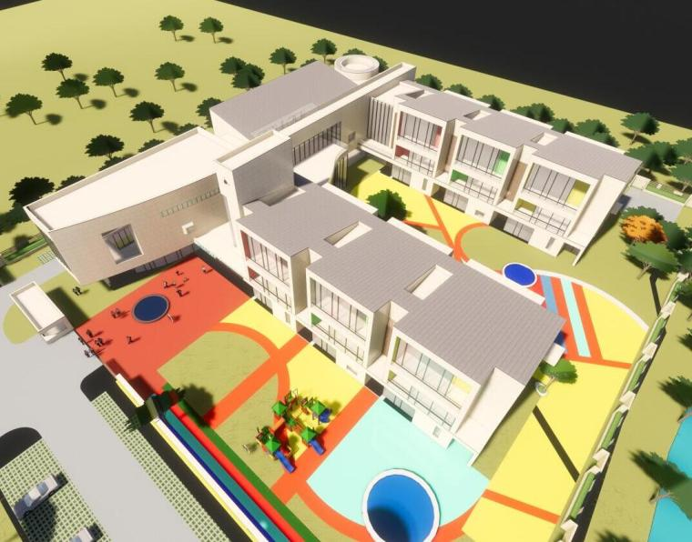 新城幼儿园建筑模型设计(2018年)
