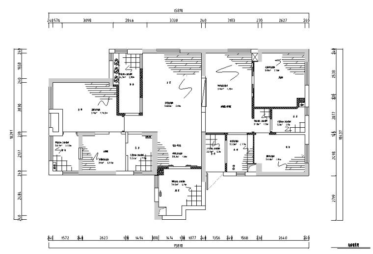 【湖北】现代偏港式样板房设计施工图(附效果图)_1
