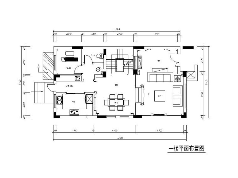 [湖南]欧式风格别墅设计CAD施工图(含效果图)