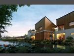 自然生态中式园林居住区建筑模型设计