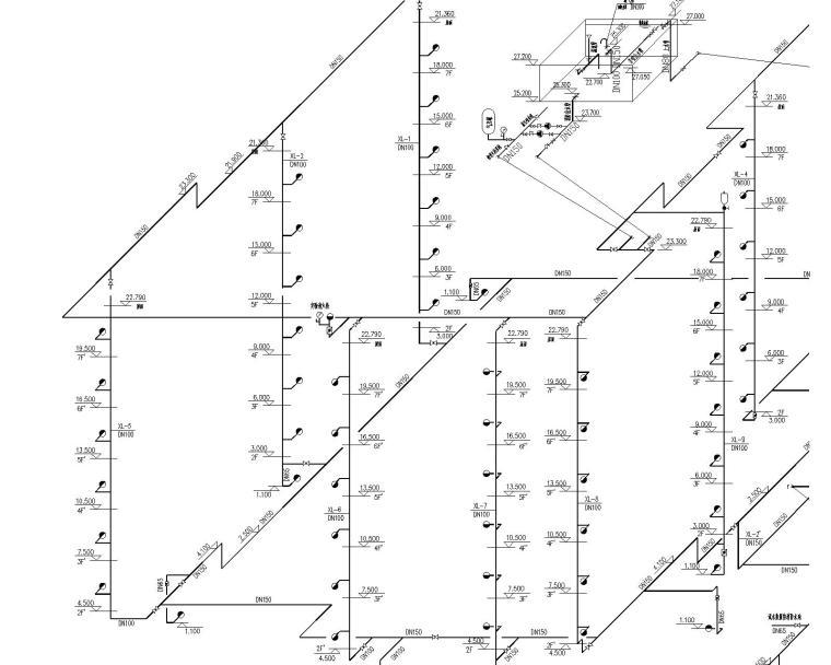 某七层停车库给排水和消防图纸_5