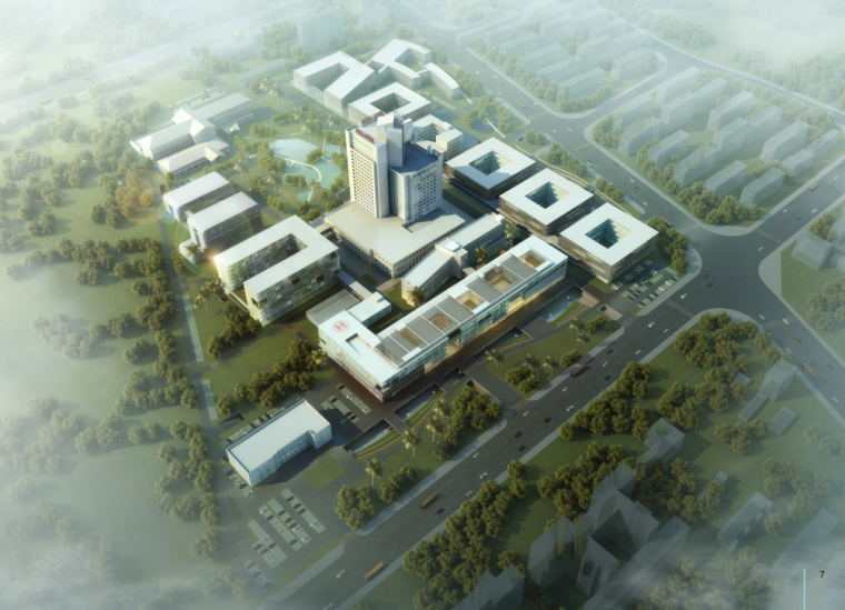 省级现代风格高层医院建筑设计方案文本