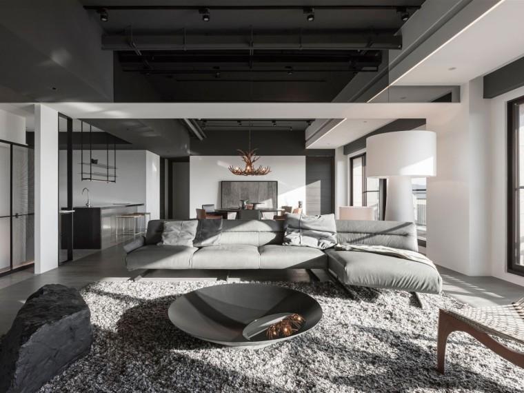 台北现代简约平层住宅