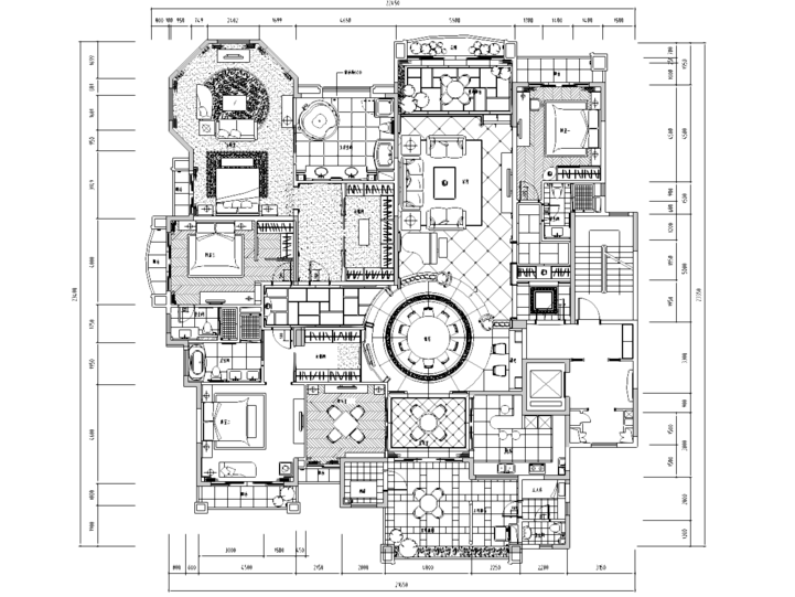 [北京]某住宅F户型样板间室内装修施工图