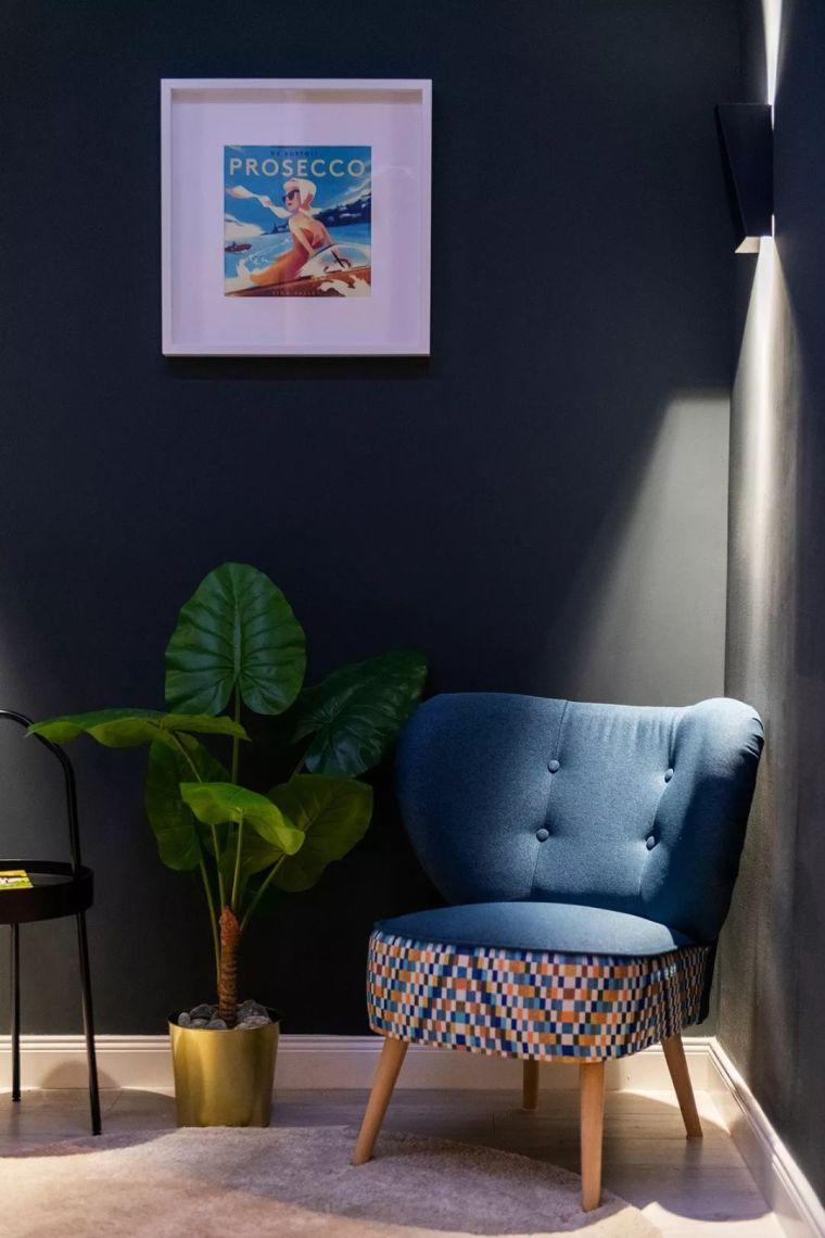 深色系墙面设计,让你家的颜值翻一倍_22
