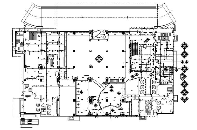 [北京]万达铂尔曼五星大饭店全套装修施工图(附高清效果图)