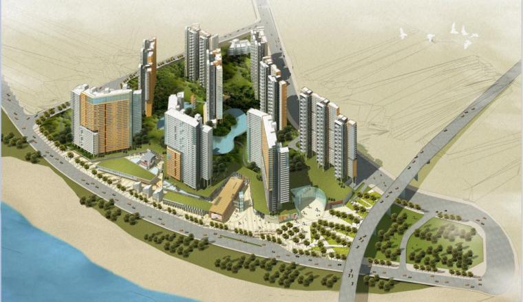 [重庆]高层现代风格线条立面住宅建筑设计方案文本