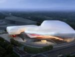 [浙江]流线型玻璃幕墙600人音乐厅及图书馆、博物馆建筑方案文本