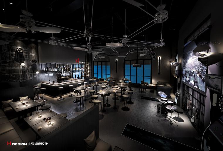 咖啡餐厅设计,红树林度假世界H·Lounge酒吧_3
