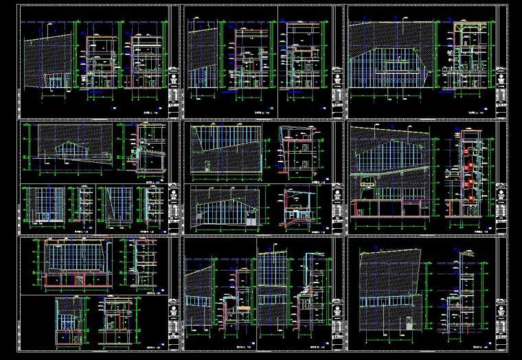 [安徽]古生物博物馆施工图含室外总体设计CAD(120个+包含建筑+结构+给排水+暖气+通电)_5